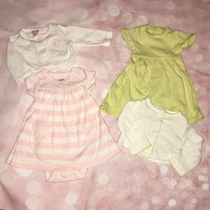 Carter's Baby girl dress and cardi bundle
